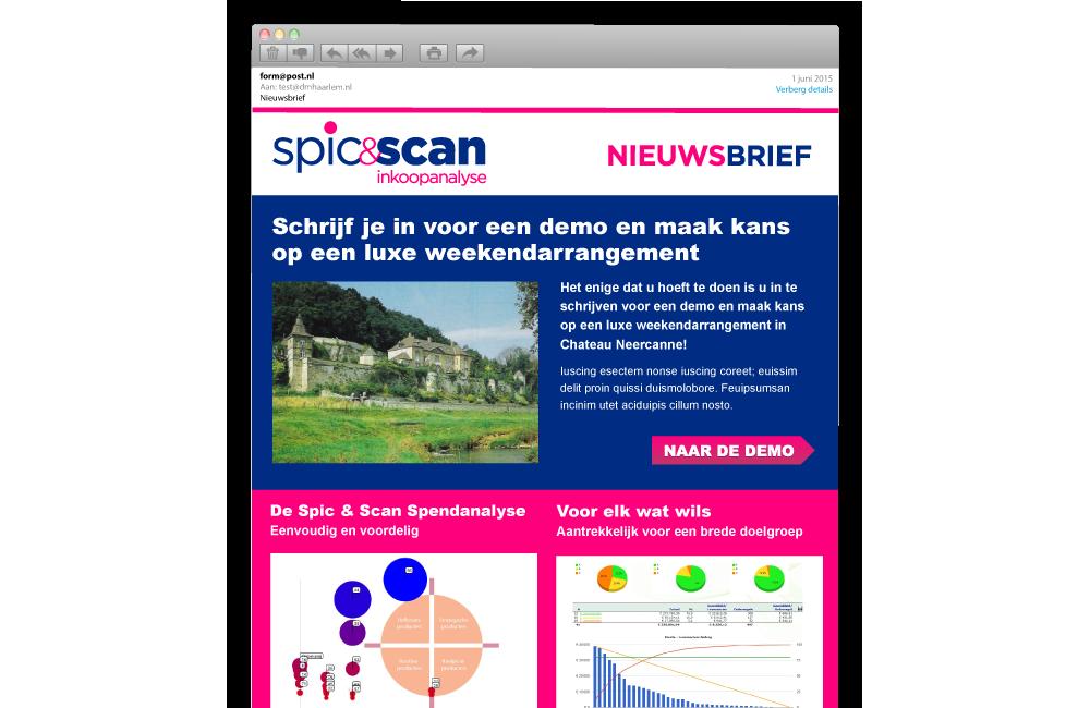 Spic & Scan e-mail nieuwsbrief